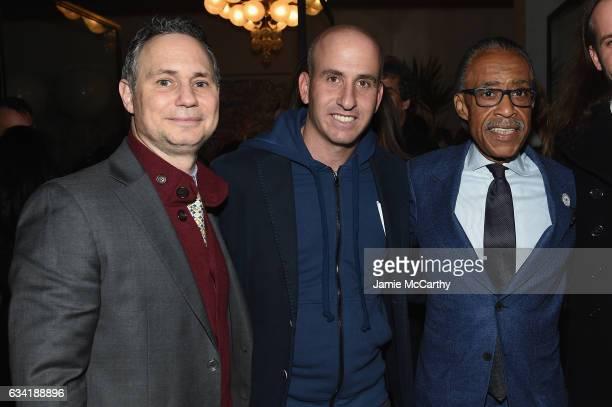 DuJour Media Founder Jason Binn Gilt Saks OFF 5TH President Jonathan Greller and Rev Al Sharpton attend the GILT and Ashley Biden celebration of the...