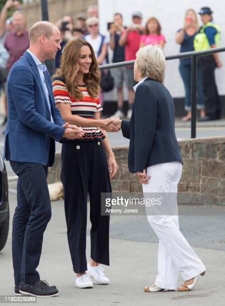 Duke and Duchess of Cambridge arrive at The Royal Yacht Squadron during the inaugural Kings Cup regatta hosted by the Duke and Duchess of Cambridge...