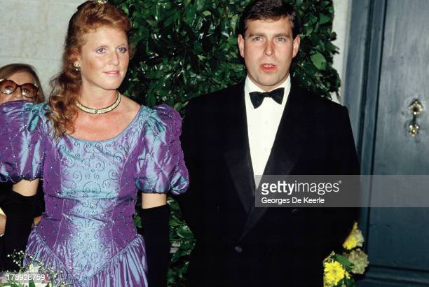 Duke and Duchess of York, Sarah and Prince Andrew, in 1990 ca. In London, England.