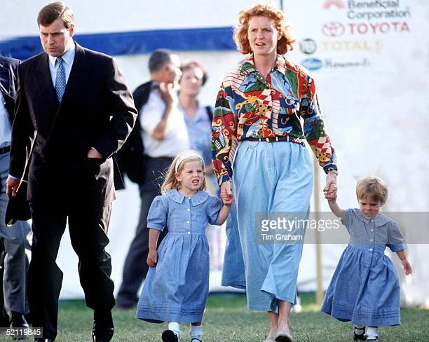Duke And Duchess Of York With Their Children Princess Beatrice And Princess Eugenie At Royal Windsor Horse Show After Their Official Separation