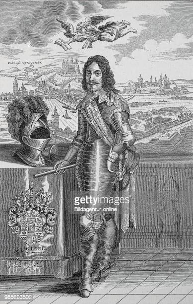 Duke Bernhard of SaxeWeimar 16 August 1604 18 July 1639 was a general of the Thirty Years War In the background left Wuerzburg with the feast...