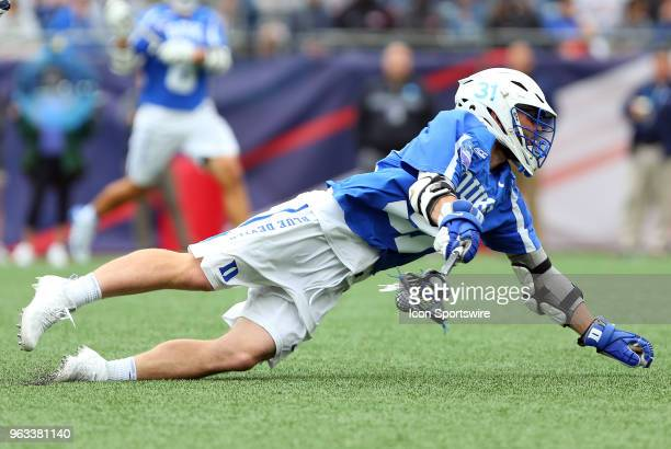 Duke Blue Devils attackman Joey Manown in action during the NCAA Division I Men's Championship match between Duke Blue Devils and Yale Bulldogs on...