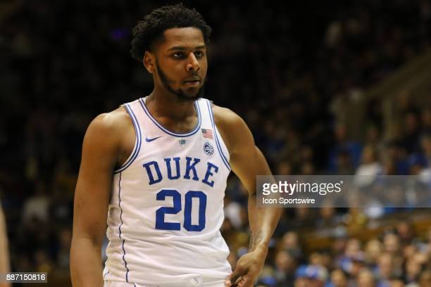 Duke Blue Devils center Marques Bolden during the 1st half of the Duke Blue Devils game versus the StFrancis on December 05 at Cameron Indoor Stadium...