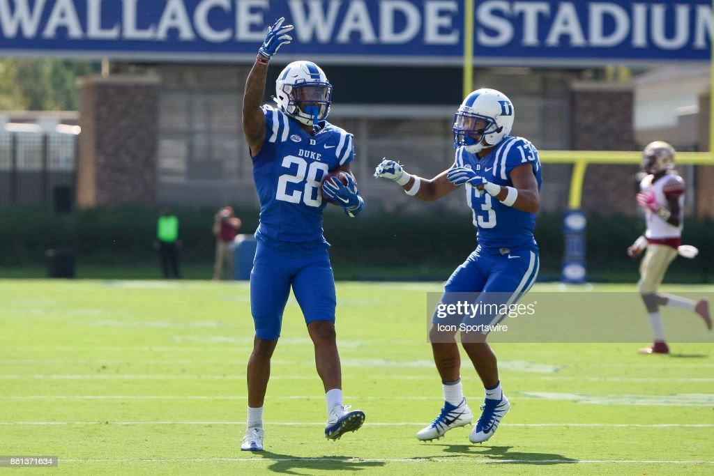 COLLEGE FOOTBALL: OCT 14 Florida State at Duke : News Photo