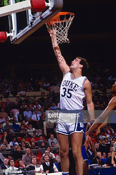 Duke Blue Devils' Danny Ferry goes to the basket for a layup ball during a NCAA game circa 19861989