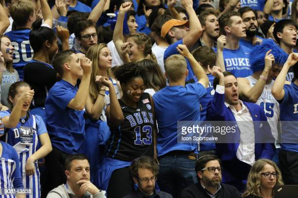 Duke Blue Devils fan dance during the 2nd half of the Duke Blue Devils game versus the Pittsburgh Panthers on January 20 at Cameron Indoor Stadium in...