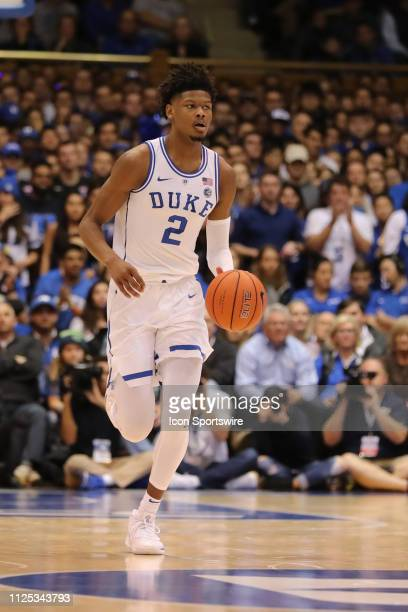 Duke Blue Devils forward Cam Reddish with the ball during the 1st half of the Duke Blue Devils game versus the NC State Wolfpack on February 16th at...