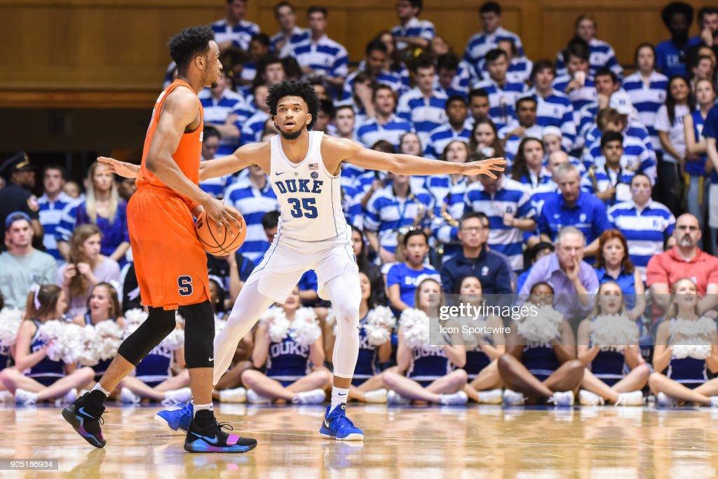 COLLEGE BASKETBALL: FEB 24 Syracuse at Duke : News Photo