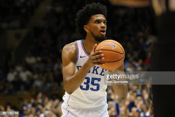 Duke Blue Devils forward Marvin Bagley III during the 1st half of the Duke Blue Devils game versus the StFrancis on December 05 at Cameron Indoor...