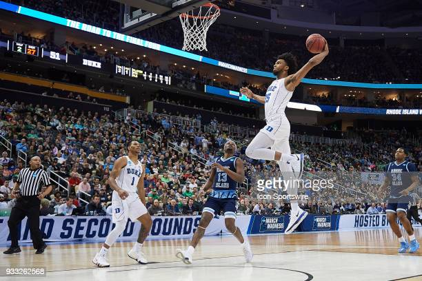 Duke Blue Devils forward Marvin Bagley III goes in for an uncontested lay up during the second half of the second round of the NCAA Division I Men's...