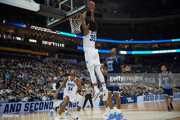 Duke Blue Devils forward Marvin Bagley III goes up for an easy dunk during the second half of the second round of the NCAA Division I Men's...