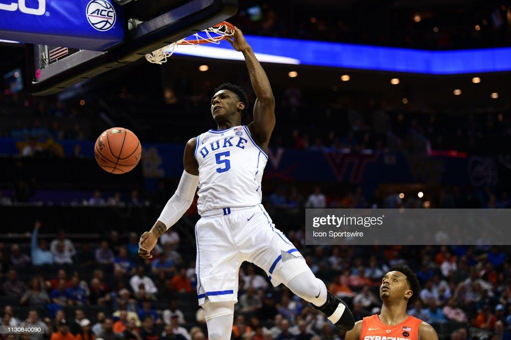 COLLEGE BASKETBALL: MAR 14 ACC Tournament Syracuse v Duke : News Photo