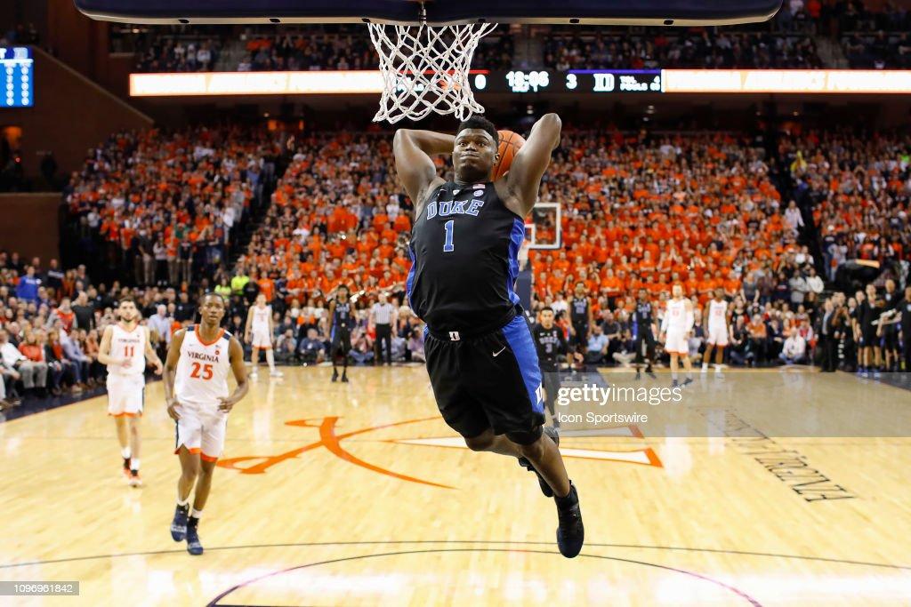 COLLEGE BASKETBALL: FEB 09 Duke at Virginia : News Photo
