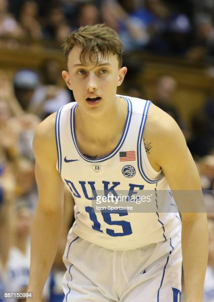 Duke Blue Devils guard Alex O'Connell during the 2nd half of the Duke Blue Devils game versus the StFrancis on December 05 at Cameron Indoor Stadium...
