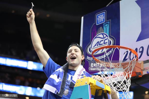 Duke Blue Devils guard Brennan Besser at the end of the of the ACC Tournament championship game with the Duke Blue Devils versus the Florida State...