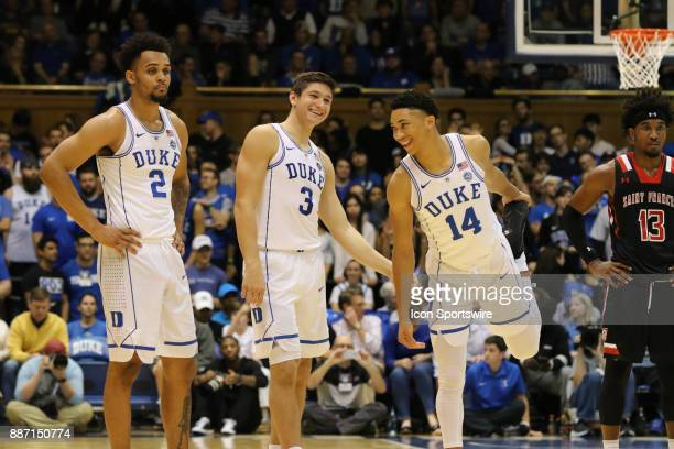 Duke Blue Devils guard Gary Trent Jr Duke Blue Devils guard Grayson Allen and Duke Blue Devils guard Jordan Goldwire during the 1st half of the Duke...