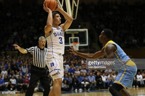 Duke Blue Devils guard Grayson Allen and Southern University Jaguars guard Torrey Mayo during the 1st half of the Southern University Jaguars versus...