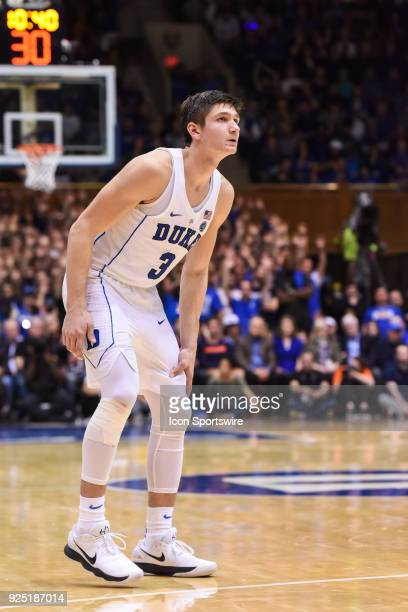 Duke Blue Devils guard Grayson Allen during the men's college basketball game between the Syracuse Orange and the Duke Blue Devils on February 24 at...