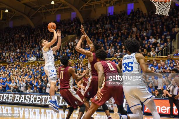 Duke Blue Devils guard Grayson Allen with the jump shot during the men's college basketball game between the Florida State Seminoles and the Duke...