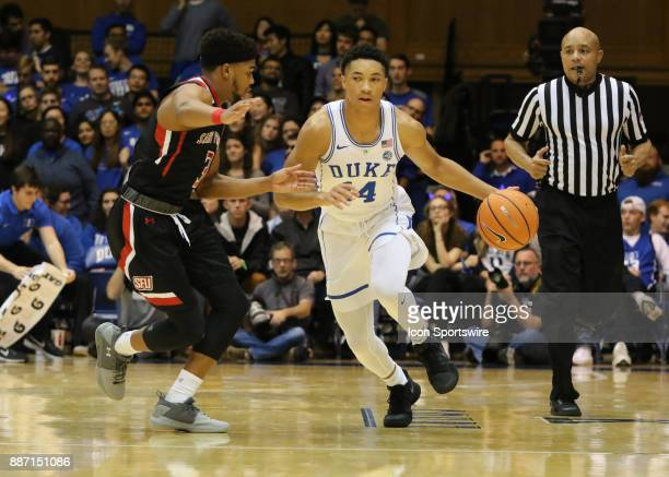 Duke Blue Devils guard Jordan Goldwire during the 2nd half of the Duke Blue Devils game versus the StFrancis on December 05 at Cameron Indoor Stadium...