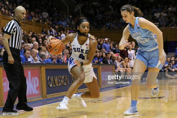 Duke Blue Devils guard Lexie Brown during the 1st half of the Women's Duke Blue Devils game versus the Women's North Carolina Tar Heels on February...