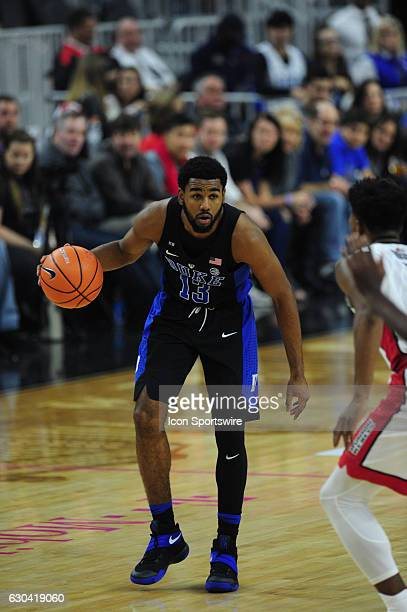 Duke Blue Devils guard Matt Jones dribbles the ball up-court against the UNLV Rebels in the first half of their NCAA college basketball game on...