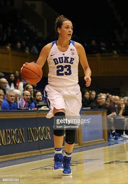 Duke Blue Devils guard Rebecca Greenwell during an NCAA women's basketball game between the Elon University Phoenix and the Duke University Blue...