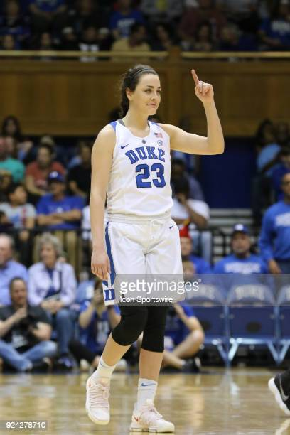 Duke Blue Devils guard Rebecca Greenwell during the 1st half of the Women's Duke Blue Devils game versus the Women's North Carolina Tar Heels on...