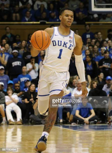 Duke Blue Devils guard Trevon Duval during the 1st half of the Duke Blue Devils game versus the StFrancis on December 05 at Cameron Indoor Stadium in...