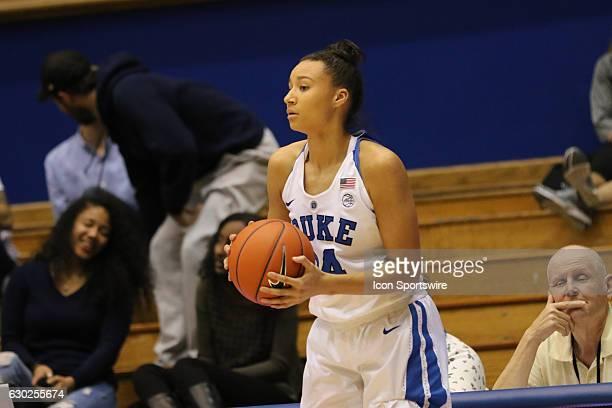 Duke Blue Devils guard/forward Faith Suggs during an NCAA women's basketball game between the Elon University Phoenix and the Duke University Blue...