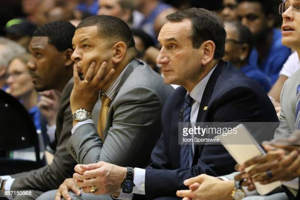 Duke Blue Devils head coach Mike Krzyzewski during the 2nd half of the Duke Blue Devils game versus the StFrancis on December 05 at Cameron Indoor...