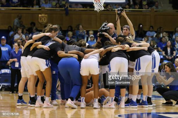 Duke Blue Devils just before the 1st half of the Women's Duke Blue Devils game versus the Women's North Carolina Tar Heels on February 25 at Cameron...