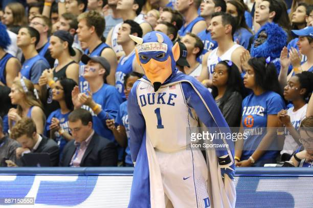 Duke Blue Devil's Mascot during the 1st half of the Duke Blue Devils game versus the StFrancis on December 05 at Cameron Indoor Stadium in Durham NC