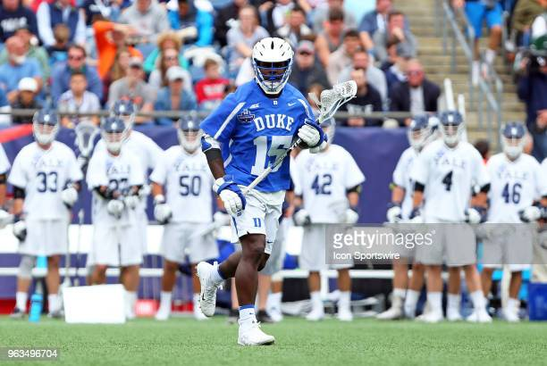 Duke Blue Devils midfielder Nakeie Montgomery during the NCAA Division I Men's Championship match between Duke Blue Devils and Yale Bulldogs on May...