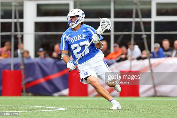 Duke Blue Devils midfielder/attackman Brad Smith in action during the NCAA Division I Men's Championship match between Duke Blue Devils and Yale...