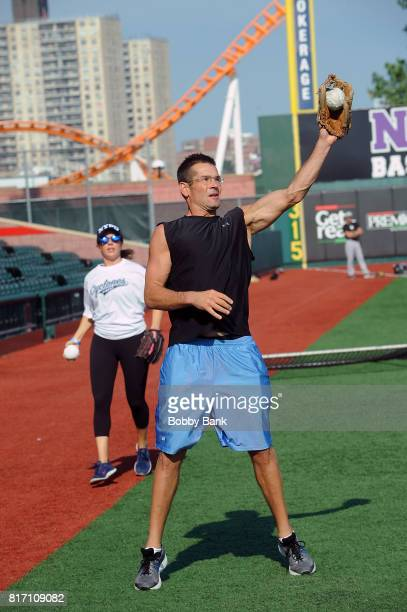 Duke Castiglione of Good Day New York attends the NYPD Holds Fundraiser For Slain Officer Miosotis Familia at MCU Park in Coney Island on July 17...
