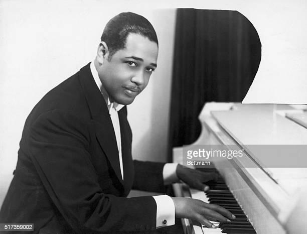 Duke Ellington American composer and arranger at the keyboard Halflength photograph 1910's