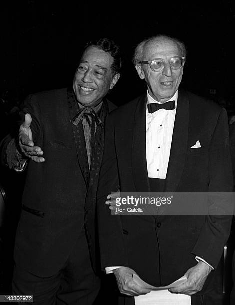 Duke Ellington and Aaron Copeland attend 10th Annual Grammy Awards on February 29 1968 at the New York Hilton Hotel in New York City