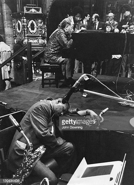 Duke Ellington and his Orchestra during a rehearsal at Westminster Abbey London on United Nations Day 24th October 1973
