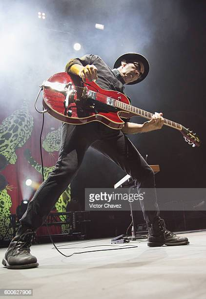 Duke Erikson of Garbage performs on stage at Arena Ciudad de Mexico on September 7 2016 in Mexico City Mexico