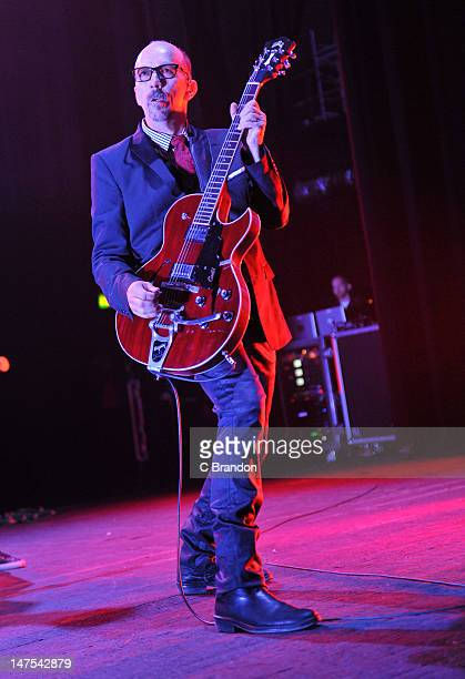 Duke Erikson of Garbage performs on stage at Brixton Academy on July 1 2012 in London United Kingdom