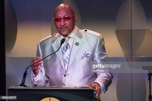 Duke Fakir founding member of the Four Tops speaks at the Grammys on the Hill Awards at The Hamilton LIVE Washington DC USA on Wednesday April 5 2017