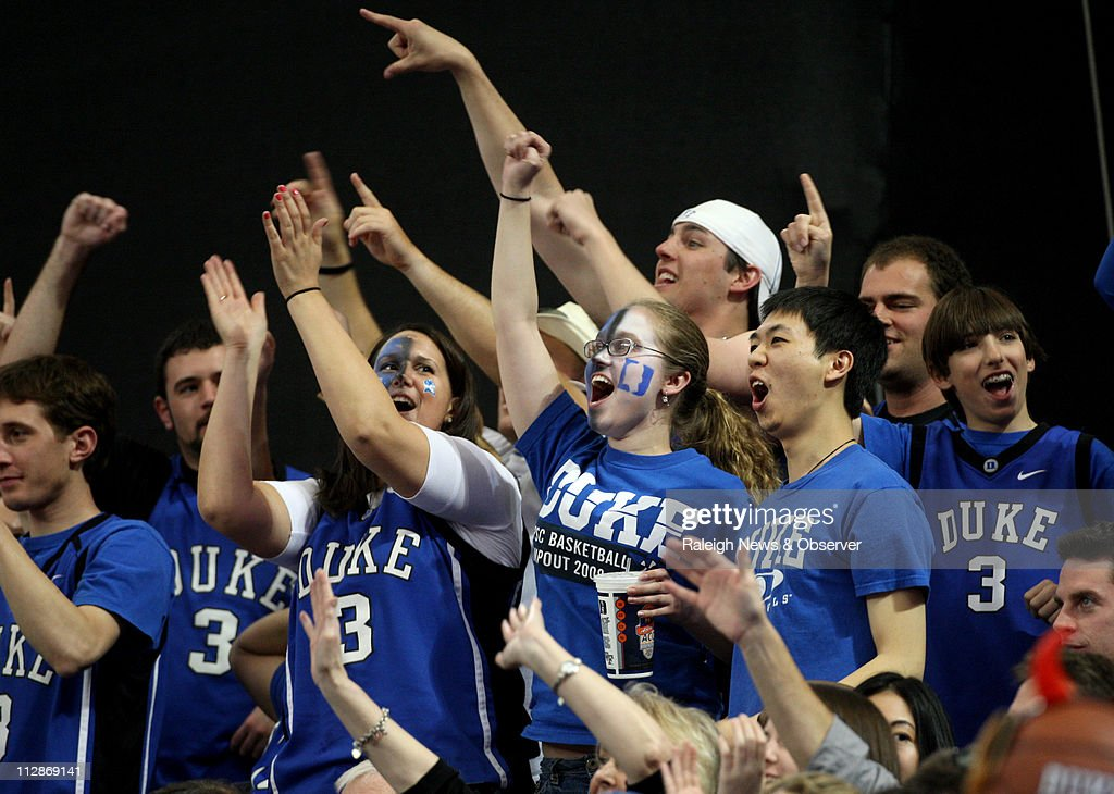 Duke Fans Cheer On The Blue Devils During Second Half Of Dukes 79 69 Victory Over Florida State In Finals ACC Mens Basketball Tournament At