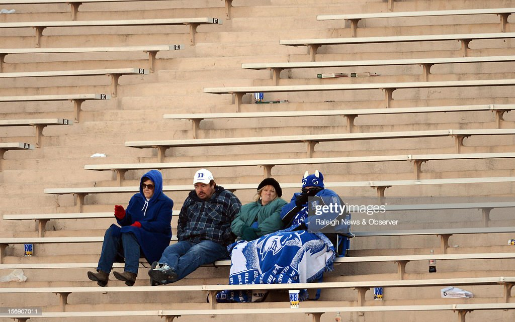 Duke fans dwindled in numbers later in the game at Wallace