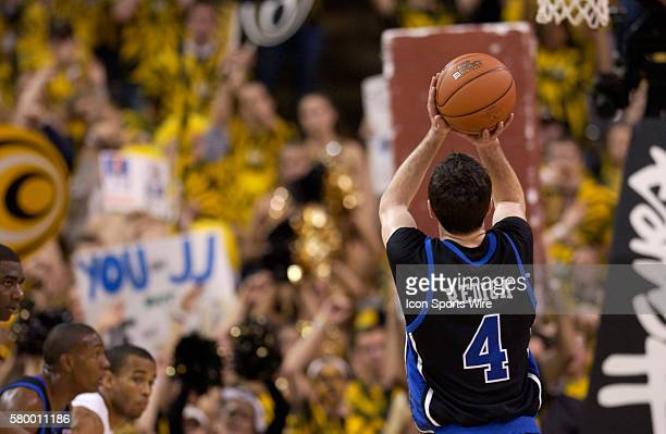 Duke guard JJ Redick shoots a free throw during the Wake Forest Demon Deacons 9289 win over the Duke Blue Devils Wednesday February 2 2005 at...