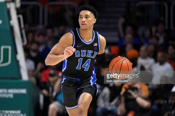 Duke guard Jordan Goldwire handles the ball in the first half as the University of Miami Hurricanes faced the Duke University Blue Devils on January...
