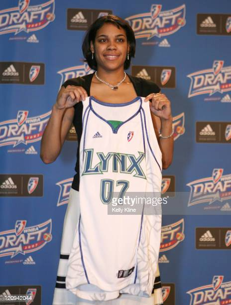 Duke Guard Lindsey Harding selected as the first overall pick in the 2007 WNBA Draft by the Phoenix Mercury but then traded to the Minnesota Lynx...