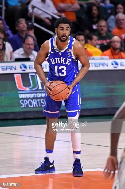 Duke guard Matt Jones handles the ball in the first half as the University of Miami Hurricanes defeated the Duke University Blue Devils, 55-50, on...