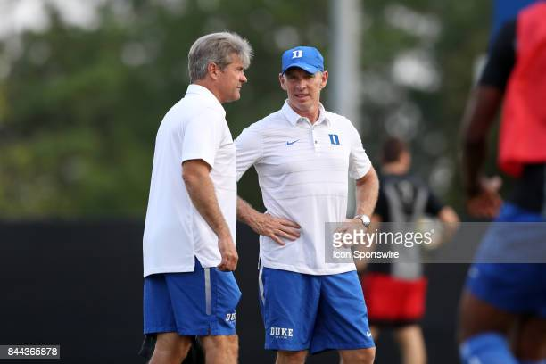 Duke head coach John Kerr with assistant coach Michael Brady The Duke University Blue Devils hosted the Presbyterian College Blue Hose on September 5...
