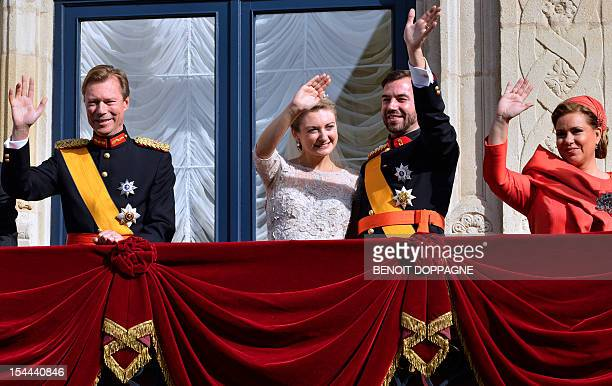 Duke Henri of Luxembourg Princess Stephanie of Luxembourg Prince Guillaume hereditary GrandDuke of Luxembourg and Grand Duchess Maria Teresa of...